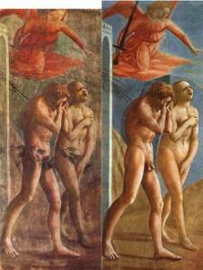 La cacciata dei progenitori dall'Eden di Masaccio prima e dopo il restauro