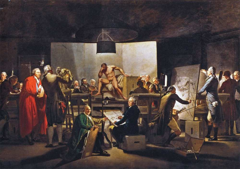 Quadal - Stanza dei pittori all'Accademia di Vienna