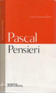 """I """"Pensieri"""" di Pascal nell'edizione Bompiani con testo francese a fronte"""