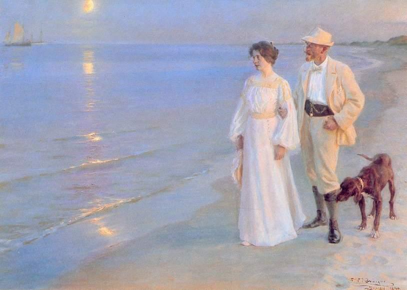 Sera d'estate sulla spiaggia di Skagen di Peder Severin Krøyer (1899)