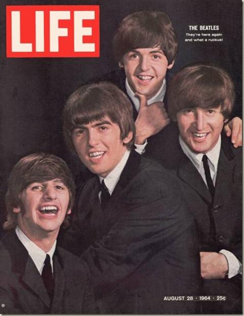 La copertina di Life Magazine del 28/8/64 dei Beatles