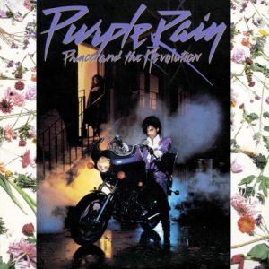 La celebre copertina di Purple Rain di Prince