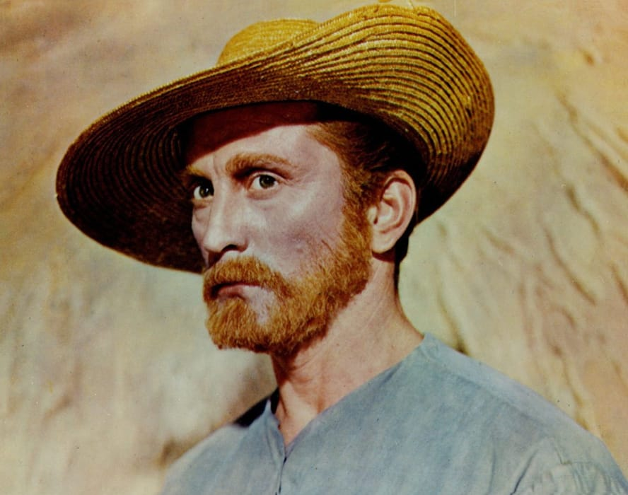 Kirk Douglas nei panni di Vincent van Gogh in Brama di vivere