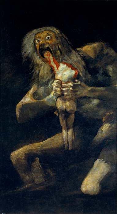 Saturno che divora i suoi figli di Goya