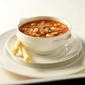 Una zuppa Manhattan Clam Chowder (foto di Tim Turner per Benny's Chop House via Flickr)