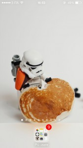 Schermata vuota ispirata a Star Wars
