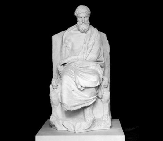 Epicuro, il grande filosofo autore di molti aforismi sulla felicità (foto di Nobody60 via Wikipedia)