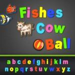 Le lettere su ABC Alfabeto Magnetico