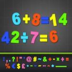 I numeri su ABC Alfabeto Magnetico