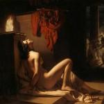 Cassandra implora la vendetta di Minerva contro Aiace di Jérome-Martin Langlois