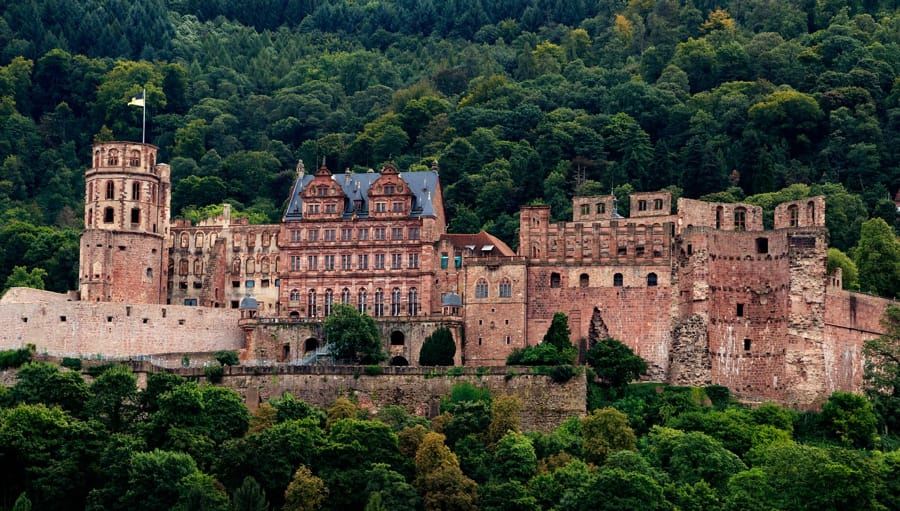 Il castello di Heidelberg in Germania