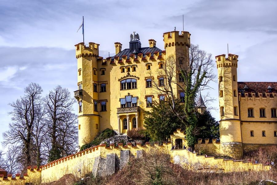 Il castello di Castello di Hohenschwangau, in Baviera