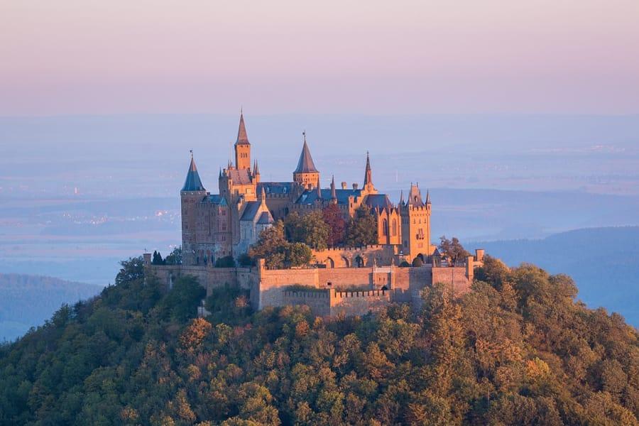 Il castello Hohenzollern in Germania