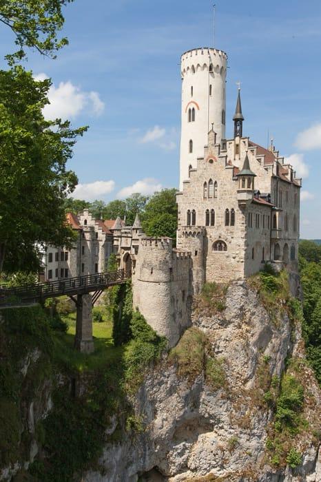 Il castello di Lichtenstein in Germania