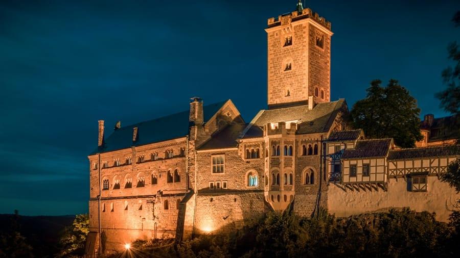 Il castello di Wartburg, in Germania