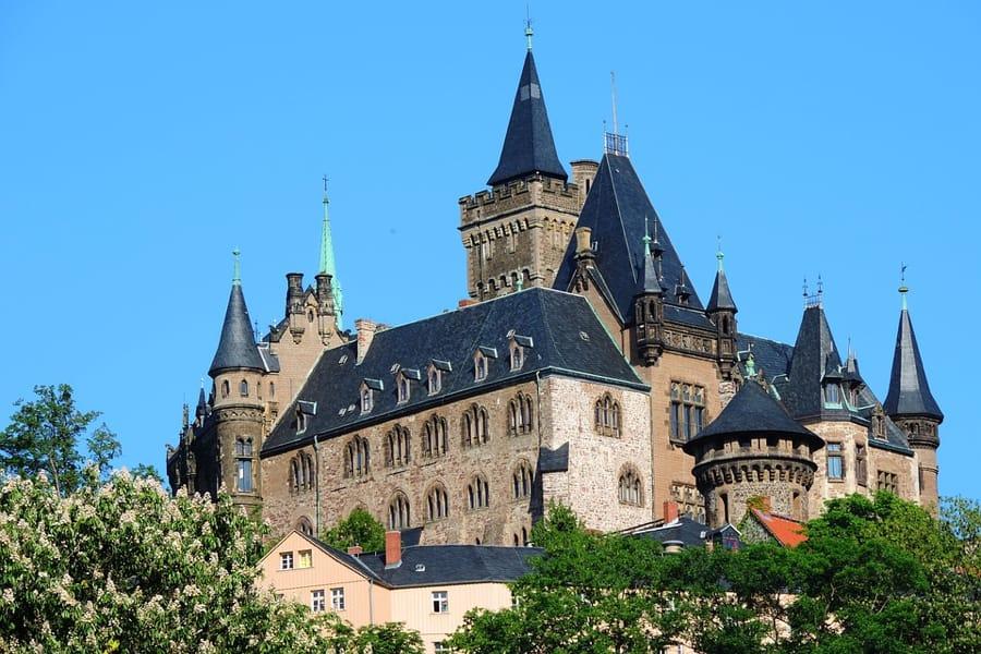 Il castello di Wernigerode in Germania