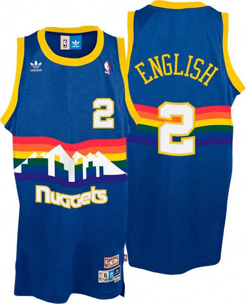 La maglia di Alex English dei Denver Nuggets