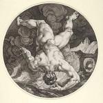 Tantalo in un'incisione di Hendrick Goltzius
