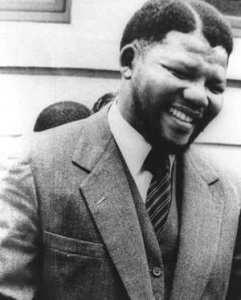 Mandela all'epoca della cattura