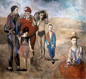 Famiglia di saltimbanchi di Pablo Picasso