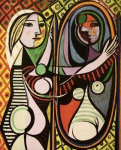 Ragazza davanti allo specchio di Pablo Picasso
