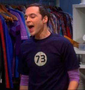 La maglia col numero 73 indossata da Sheldon