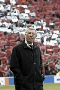 Alex Ferguson, storico allenatore del Manchester United (foto di Gordon Flood via Flickr)