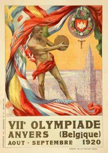 Il manifesto delle Olimpiadi di Anversa 1920