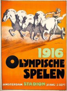 Il manifesto delle Olimpiadi di Berlino 1916, poi non disputati a causa della Prima guerra mondiale