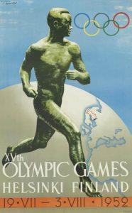 Il manifesto delle Olimpiadi di Helsinki 1952