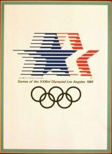 Il manifesto delle Olimpiadi di Los Angeles 1984