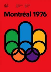Il manifesto delle Olimpiadi di Città del Montréal 1976