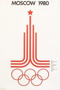 Il manifesto delle Olimpiadi di Mosca 1980