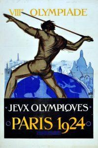 Il manifesto delle Olimpiadi di Parigi 1924