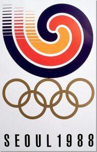 Il manifesto delle Olimpiadi di Seul 1988