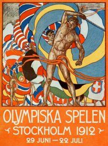 Il manifesto delle Olimpiadi di Stoccolma 1912