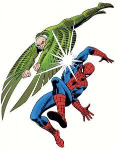 L'Avvoltoio contro l'Uomo Ragno in un celebre disegno di John Romita sr.