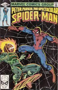 Spider-Man contro Jack O'Lantern in un disegno di Frank Miller
