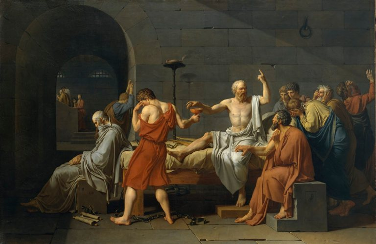 La morte di Socrate, quadro di Jacques Louis David dedicato al filosofo del So di non sapere