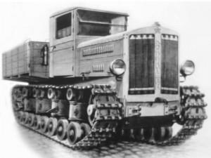 Un trattore d'artiglieria sovietico