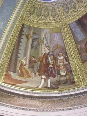Galileo osserva la lucerna della Cattedrale in un affresco di Luigi Sabatelli