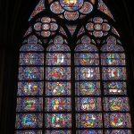 Una delle magnifiche vetrate di Notre-Dame