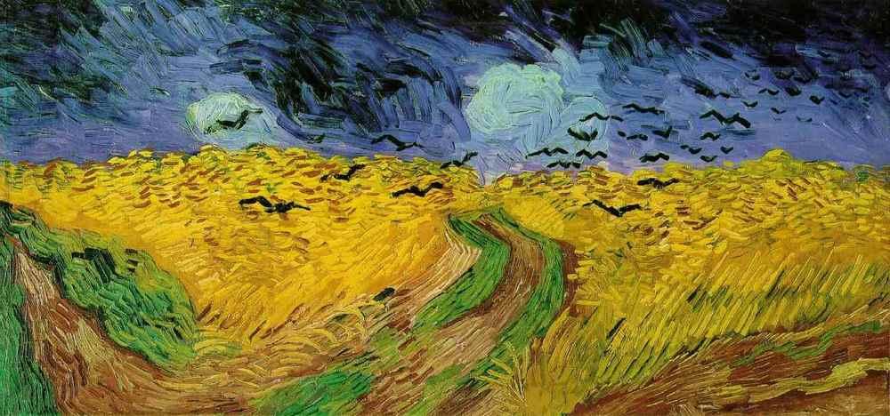 Campo di grano con volo di corvi di Vincent van Gogh