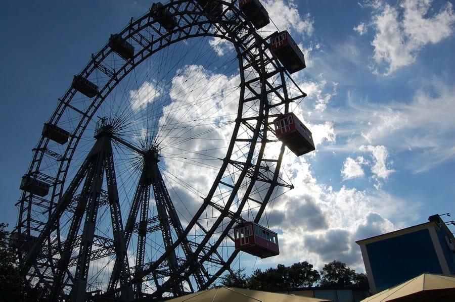 La famosa ruota del Prater di Vienna