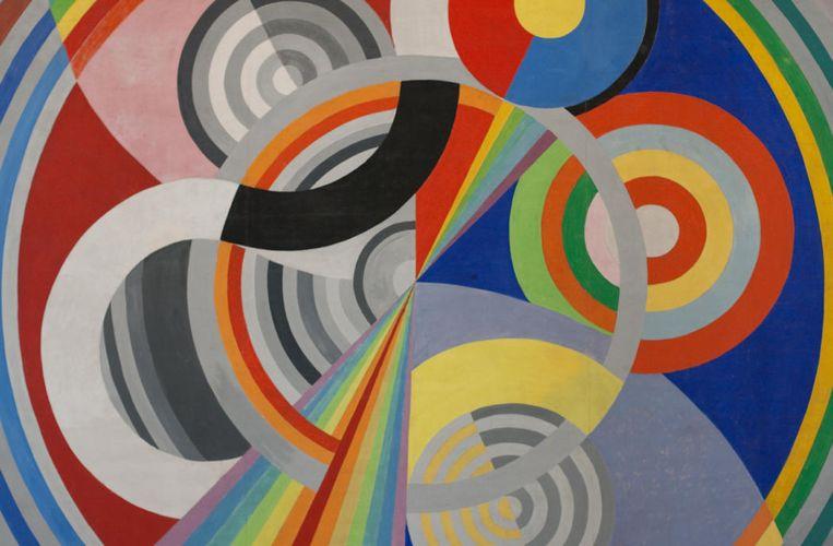 I maggiori quadri del cubismo orfico, come questo Ritmo n.1 di Robert Delaunay