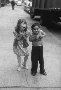 Child teasing another, N.Y.C., 1960