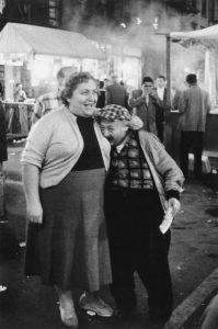 Little man biting woman's breast, N.Y.C., 1958