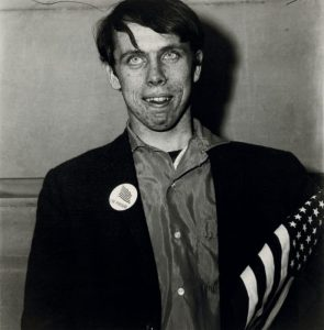 Patriotic Young Man with a Flag, N.Y.C., 1967