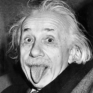 Albert Einstein in una foto famosa