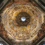 L'interno della cupola del Duomo, a Firenze